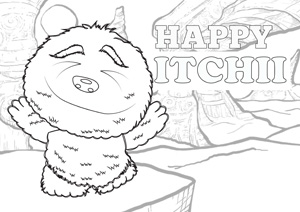 AproDites-Happy-Itchii-Colouring-Page